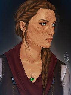 Feyre <---this is amazing. Exactly how I pictured her!