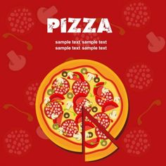 Pizza illustrator 05 vector Vector misc - Free vector for free download