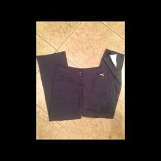 Puma Track Pants Navy track pants size small. No pockets. Cute zippers at ankles reveal white when opened. Puma Pants Track Pants & Joggers