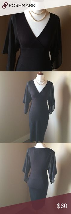 👗 LBD by Carmen Marc Valvo Size Small 👗NWOT This stunning black dress with sheer sleeves is sure to be a head turner! Length 36 inches Rayon Spandex blend Carmen Marc Valvo Dresses