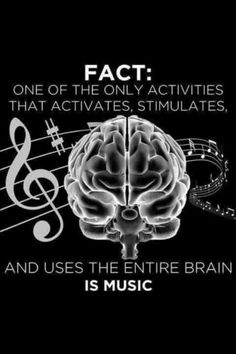 Sight reading/singing stimulates the entire brain. So those who play instruments (yes, the voice is an instrument) seriously are using their whole brain. Not so for people simply listening to music or singing along to the radio. Music Is Life, My Music, Music And The Brain, Trance Music, House Music, Rock Music, Music Flow, Kids Music, Piano Music