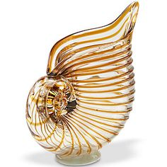 Art Glass Seashell Vase by Lenox