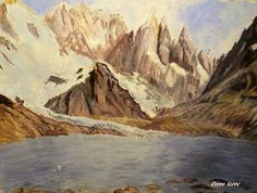 GALERIA PALOMO MARIA: CERRO TORRE Patagonia, Painting, Art, Landscape Paintings, Towers, Argentina, Art Background, Painting Art, Kunst