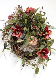 Country Wreath, Front Door Wreath, Everyday Wreath, Spring Wreath, Honeysuckle, Summer Wreath, Country Decor
