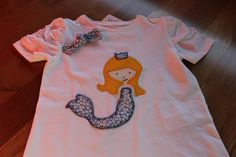 Camiseta con Sirena en patchwork.  camiisetasole.wordpress.com