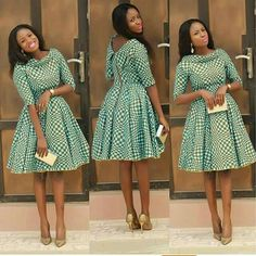 African Print Pleated Dress with Dual Neckline, African Flare Dress, African Short Dress, African Dress by MyAnkaraLove on Etsy Latest African Fashion Dresses, African Print Dresses, African Dresses For Women, African Print Fashion, Africa Fashion, African Attire, African Wear, African Women, Fashion Prints