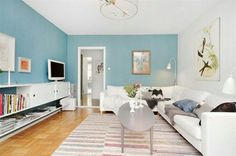 Stockholm, Color Celeste, Light Blue Walls, Dream Decor, Creative Home, Decoration, Family Room, Sweet Home, Shabby Chic