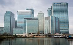 The Canary Wharf financial district in east London. One Canada Square, City Scene, Amazing Buildings, Property Development, Photography Services, London England, New York Skyline, Skyscraper, Finance
