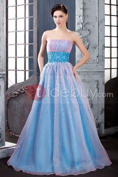 Gracioso Vestido de Quince Años/Prom Ball Gown y Largo al Piso Sin Tirantes Quinseañera dresses ♥LB♥ http://es.tidebuy.com