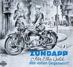 Vintage Ads, Motorbikes, Transportation, Motorcycles, German, Advertising, Comic Books, Cars, Comics