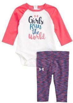 9fadbc4dc80b Under Armour Girls Run The World Graphic Bodysuit   Leggings Set (Baby Girls)