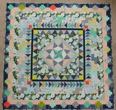 "Marcelle Medallion Quilt » Color Girl Quilts by Sharon McConnell. Based on the pattern from Alexia Abegg's ""Liberty Love"" book."