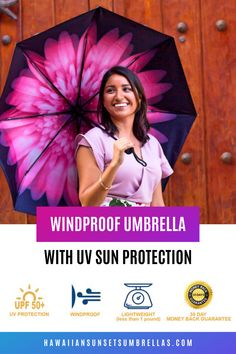 Look great with a beautiful compact umbrella with UV protection! Lightweight and wind resistant! Uv Umbrella, Small Umbrella, Best Umbrella, Compact Umbrella, Black Umbrella, Umbrella Wedding, Travel Umbrella, Wind Resistant Umbrella, Rain