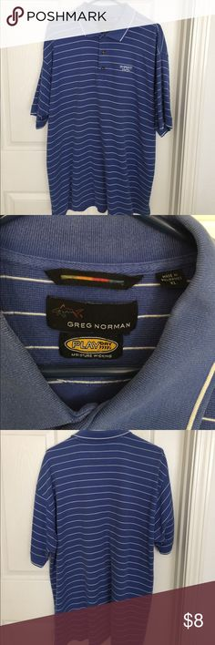 Greg Norman Golf Shirt Greg Norman Golf Shirt size XL from Sharks Tooth Golf Course. I small stain around the neck from hanging but no noticeable when wearing. Greg Norman Shirts Polos