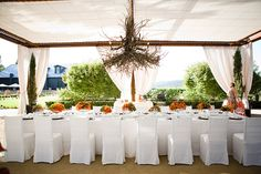 like the clean look, the contrast of the dark wood vs white, love the draping + tent cover        Atelier Joya   Kelham Vineyards, St. Helena