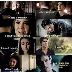 #TVD The Vampire Diaries  Elena & Damon
