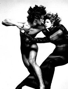 Beautiful play on tension and romance.  Richard Avedon (1993): Marcus Schenkenberg & Stephanie Seymour, for Versace