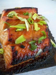 Orange Miso Glazed Salmon