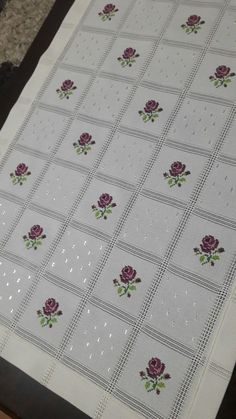 This Pin was discovered by nag Cross Stitch Borders, Cross Stitch Rose, Crochet Borders, Cross Stitch Flowers, Cross Stitch Designs, Cross Stitch Embroidery, Cross Stitch Patterns, Hand Embroidery Designs, Embroidery Patterns