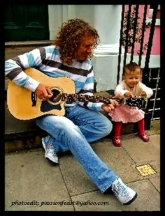 Robert Plant plays for his granddaughter... UPI photo | Photoedit by LisaKay Allen/Passionfeast