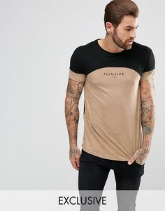 Illusive London Muscle T-Shirt In Stone Suedette - Stone Outfits For Teens, Casual Outfits, Men Casual, Graphic Shirts, Tee Shirts, Independent Clothing, Mens Fashion Sweaters, Muscle T Shirts, Men's Wardrobe