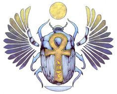 Scarab and Ankh - Egyptian Symbols and Meanings Ancient Egyptian Beliefs, Egyptian Mythology, Egyptian Symbols, Mayan Symbols, Ancient Symbols, Scarab Tattoo, Beetle Tattoo, Egyptian Beetle, 1 Tattoo