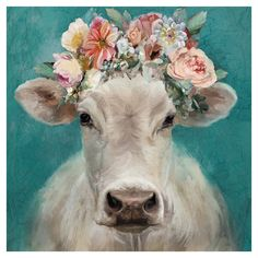 Masterpiece Art Gallery Fancy Cows I Square Canvas Wall Art Multi Cow Paintings On Canvas, Cow Canvas, Animal Paintings, Canvas Art Prints, Canvas Wall Art, Framed Canvas, Farmhouse Paintings, Cow Art, Cow Wall Art