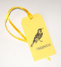 50% OFF SALE  on all cards and tags.  Yellow Friend Bird Gift Tags or by CreativeDesigns, $2.00