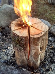 How to Build a Swedish Fire Torch @B R O O K E // W I L L I A M S Williams Williams Williams Williams Wolff For Will!