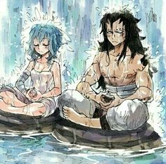 Fairy Tail - Levy McGarden and Gajeel Redfox ♡ Fairy Tail Levy, Fairy Tail Ships, Fairy Tail Amour, Anime Fairy Tail, Fairytail, Gruvia, Gajevy Smut, Couples Fairy Tail, Fairy Tail Family