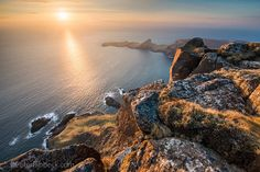 1000' drop from Waterstein head looking over to Neist point, Isle of Skye - by Peter Ribbeck Photography