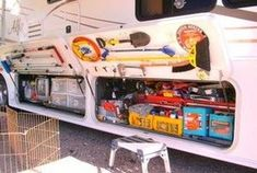 Camper awnings permit you to include extra space to your camper. You can get an awning for a popup camper just as quickly as you can get one for a fifth wheel or a recreational vehicle. Travel Trailer Organization, Rv Organization, Camper Storage, Storage Hacks, Storage Ideas, Vehicle Storage, Trailer Storage, Boat Storage, Storage Boxes