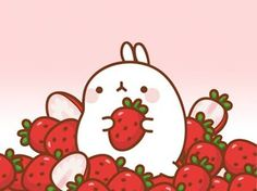 Cute Kawaii Drawings, Kawaii Cute, Kawaii Wallpaper, Cute Wallpaper Backgrounds, Best Iphone Wallpapers, Cute Wallpapers, Kawaii Background, Cute Cat Illustration, Molang