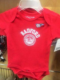Babies can rock their RU spirit in this Radford Red onesie!