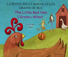 Little Red Hen and the Grains of Wheat - Dual Language Children's Books - available in Japanese!