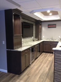 Find home projects from professionals for ideas & inspiration. Basking Ridge Basement Bar Remodel by Kitchen Krafter Design/Remodel Showroom Basement Bar Plans, Basement Bar Designs, Modern Basement, Home Bar Designs, Basement Kitchen, Basement Bedrooms, Basement Renovations, Basement Ideas, Basement Bathroom