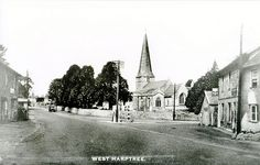 west tower, spire, main body extensively restored in 1865 by C. Giles of Taunton who added a new chancel. Local History, Somerset, 1920s, Tower, Street View, Computer Case, Towers, Building