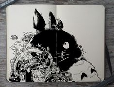 "picolo-kun: ""Studio Ghibli inspired doodles """