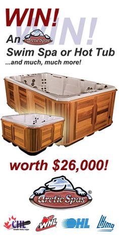 Win a Swim Spa or Hot Tub from Arctic Spas