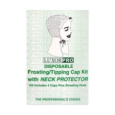 Luxor Pro Disposable Frosting/Tipping Cap Kit with Neck Protector Model No. 2474NP * Read more at the image link. (This is an Amazon affiliate link)