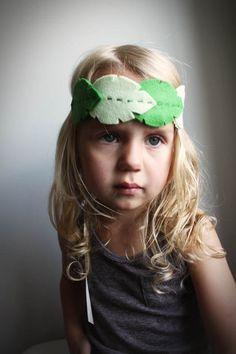 Woodland Green Leaf headband - tribal fashion for women teens and girls leaf headband - handmade hair accessories halloween fairy costume