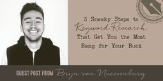 """Editor's Note: A while back, I posted in a group asking for SEO tips for bloggers, and Bryn responded with an offer to do a guest post on his """"sneaky"""" tips for SEO keyword research. This is a question I get asked a lot, so I was happy to post his ideas. The system …"""