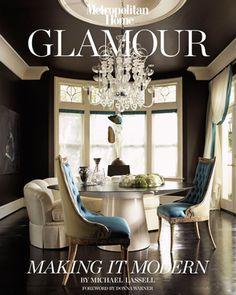 black walls cream furniture   Inspiration: Metropolitan Home's Glamour Book (5 pics) - My Modern Metropolis
