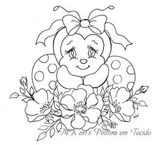 Doodle Coloring, Coloring For Kids, Colouring Pages, Coloring Books, Painting Words, Fabric Painting, Ladybug Art, Tole Painting Patterns, Rock Painting Designs