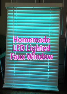 DIY Homemade LED Lighted Faux Window for basement