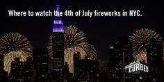 The best locations in New York City for watching the 4th of July fireworks. Click through to find the best views.