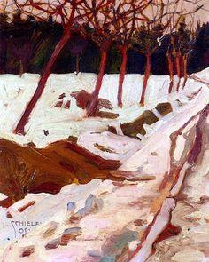 """Schnee"" by Egon Schiele, 1908 via Lauren scotto Winter Landscape, Landscape Art, Landscape Paintings, Gustav Klimt, Painting Snow, Painting & Drawing, Winter Art, Winter Road, Art Moderne"