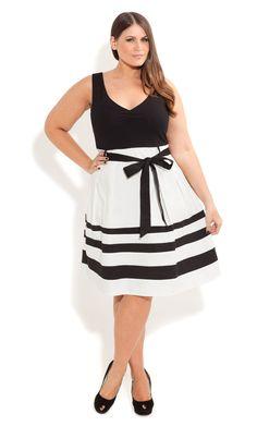 City Chic - So Cute Colour Dress - Women's plus size fashion