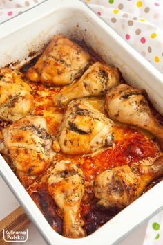 Chicken Wings, Pork Dishes, Meat Recipes, Nom Nom, Grilling, Food And Drink, Dinner, Polish Cuisine, Dining