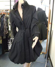 Joseph Ribkoff 4 Black Puffball Bubble Dress Coat/Mac